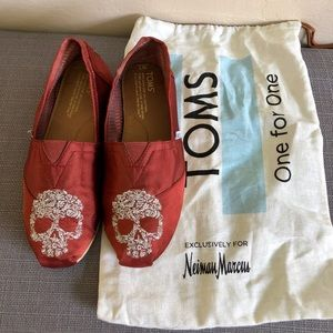 Toms Red Skull Shoes
